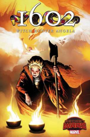 1602 Witch Hunter Angela Portada por Richard Jsanove