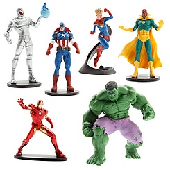 Disney - Set de figuras de Vengadores La era de Ultrón con Capitana Marvel