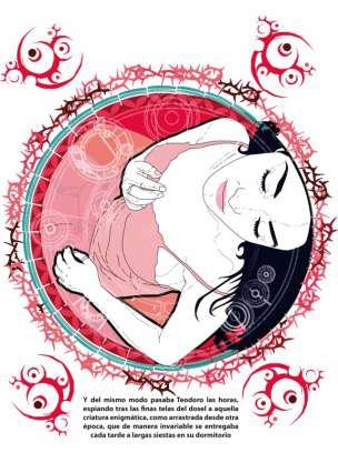 El manjar inmundo - Ilustraciones de Calavera Diablo - Bella durmiente