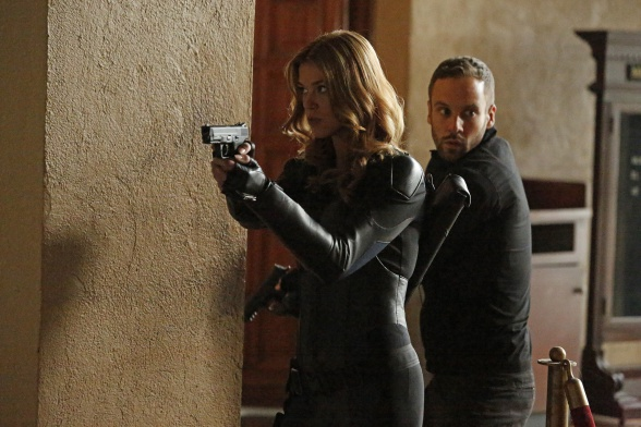 Palicki y Blood Agentes de SHIELD
