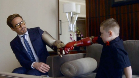 Robert downey jr bionic arm iron man 02