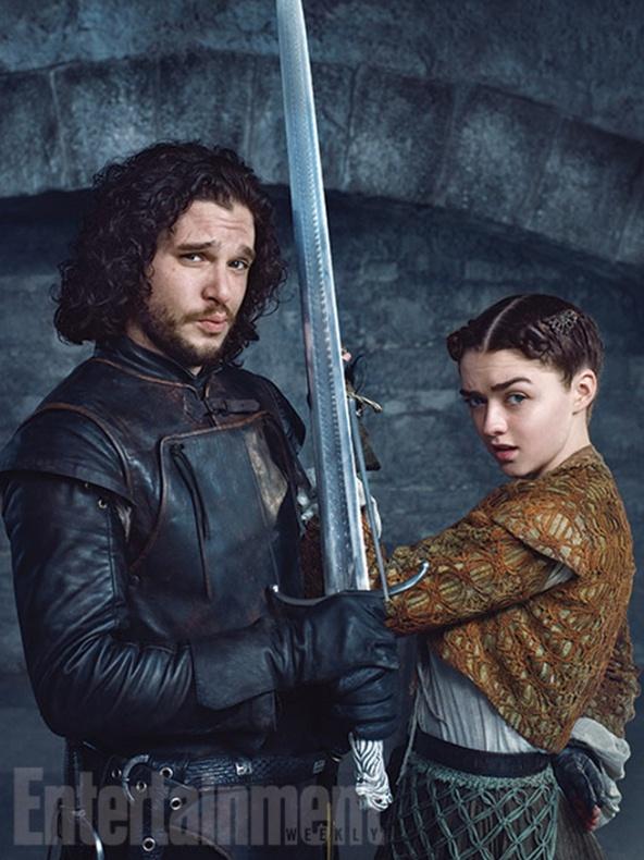 arya stark jon nieve juego de tronos ew 1