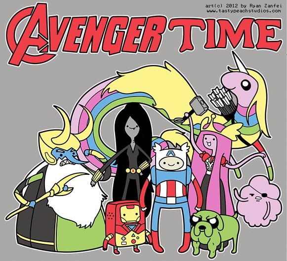 hora de aventuras vengadores marvel
