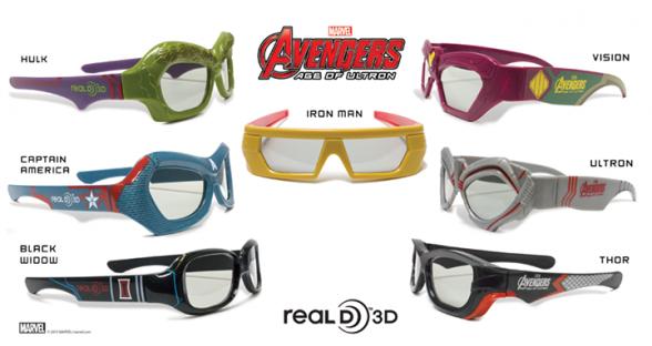 Gafas 3D Vengadores