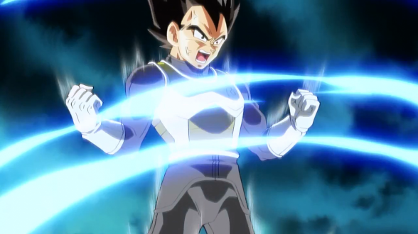 Dragon Ball Z Fukkatsu no F Vegeta super saiyan god super saiyan2