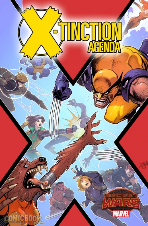 X-Men previas de Secret Wars Julio Agenda X-Tinción