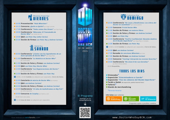 Programa Doctor Who Day BCN