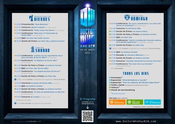Programa Doctor Who Day BCN