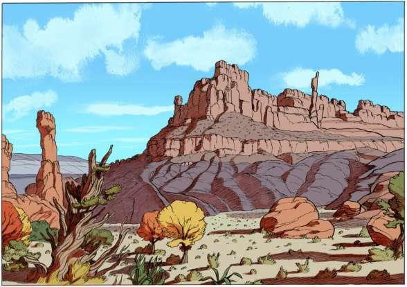 Detalle de un paisaje de lo nuevo de Peeters