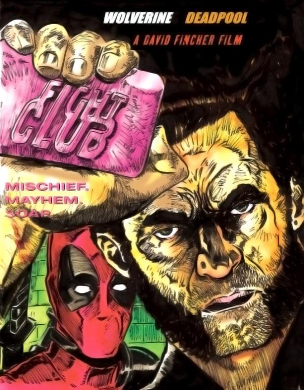 Personajes de cómics en pósters de películas