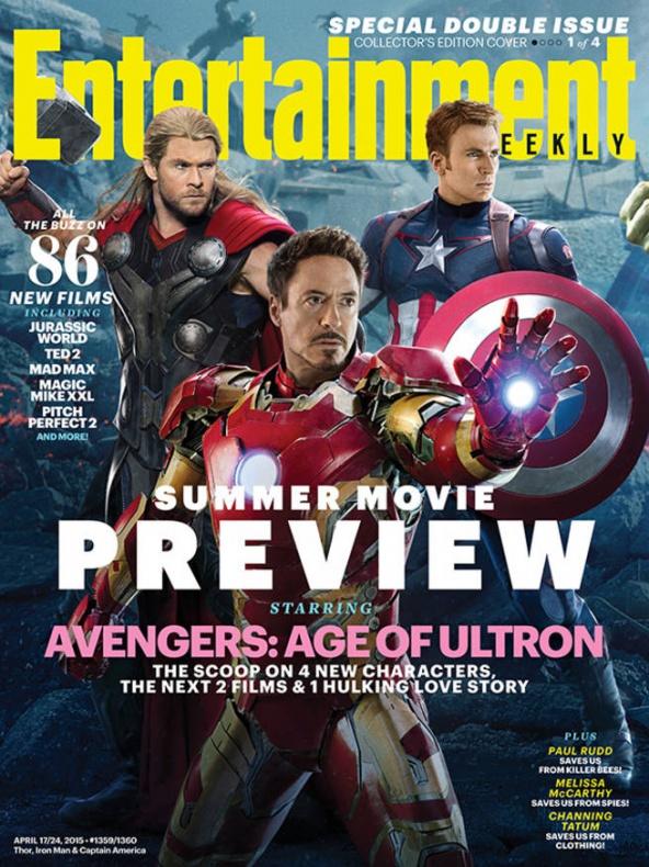 vengadores la era de ultron entertainment weekly portada 1