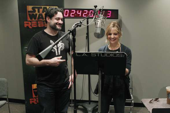 Dave Filoni y Sarah Michelle Gellar Star Wars Rebels