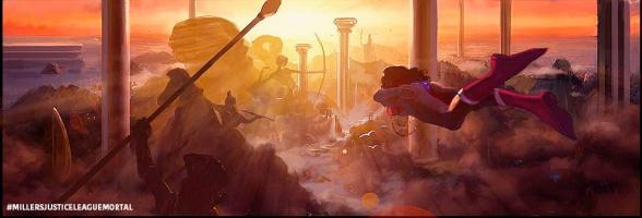 George Miller's Justice League Wonder Woman concept art 01