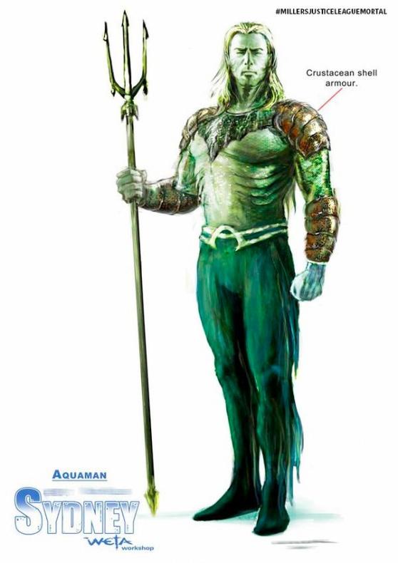 George Miller's Justice League concept art Aquaman