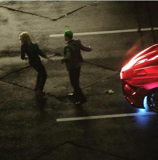 Harley y Joker en el rodaje 04
