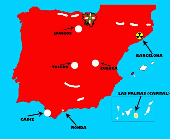 Mapa España Zombi