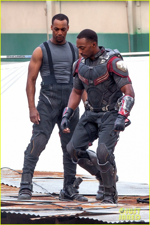 chris evans anthony mackie get to action captain america civil war 18