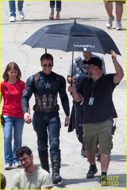 chris evans anthony mackie get to action captain america civil war 41