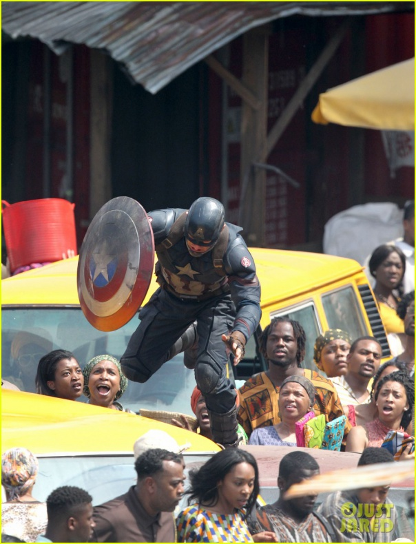 chris evans anthony mackie get to action captain america civil war 51