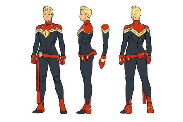 Capitana Marvel diseño