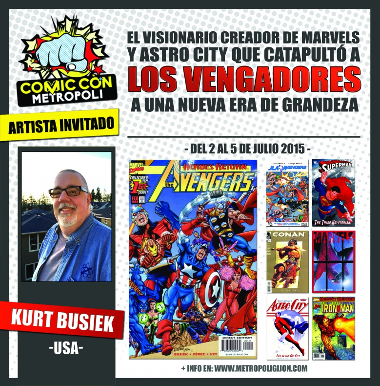 Kurt Busiek Metrópoli Comic Con