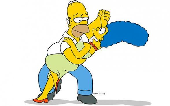 Los Simpson Homer y Marge