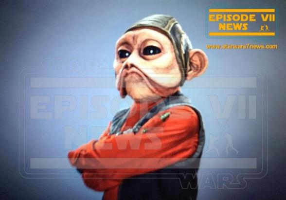 Star Wars: el despertar de la fuerza nuevas imágenes Nien Numb