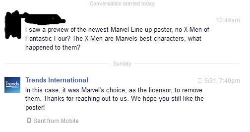 X-Men se quedan fuera del poster y juegos de Marvel conversacion sobre el poster