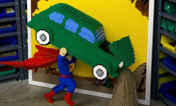 Action Comics Superman LEGO destacada