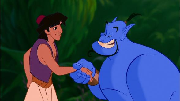 Aladdin y Genio