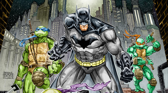 Batman tortugas ninja comic