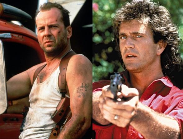 Bruce Willis Mel Gibson