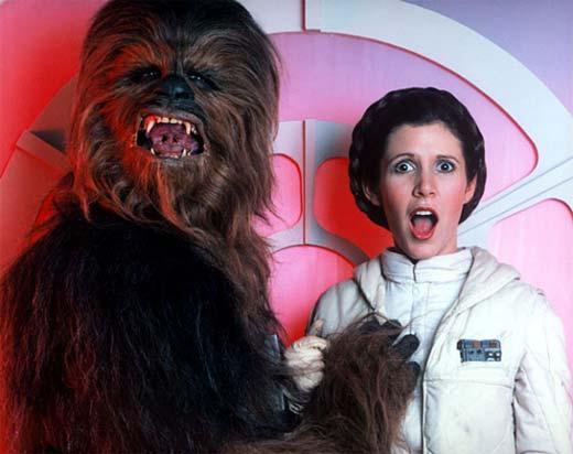 Chewbacca y Leia