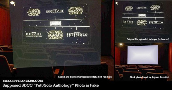 Star Wars leaked film slate - fake proof