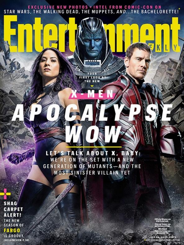 entertainment weekly portada x men apocalipsis