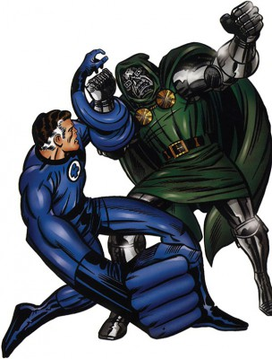Reed Richards y su némesis, el Dr. Doom
