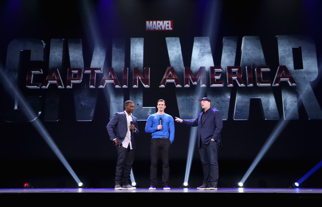 Anthony Mackie y Chris Evans presentan 'Civil War' en la D23