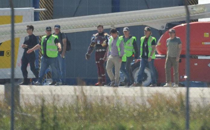 Captain America Civil War - rodaje Iron Man Mark 46