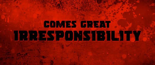 Gran poder gran irresponsabilidad Deadpool