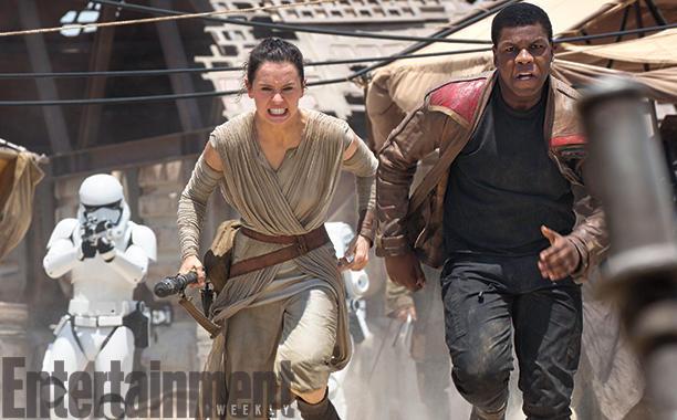 Star Wars: El despertar de la fuerza Nombres Finn y Rey