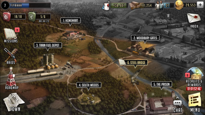 The Walking Dead - Mapa de juego