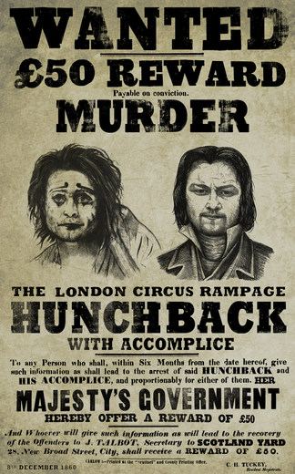 Victor Frankenstein wanted poster