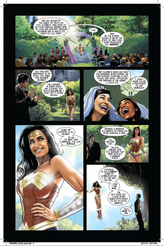 Wonder Woman oficia una boda gay