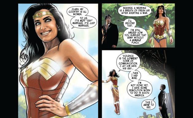 Wonder Woman oficia una boda gay1