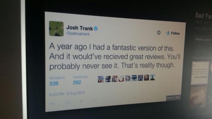 Josh Trank tuit Fantastic Four