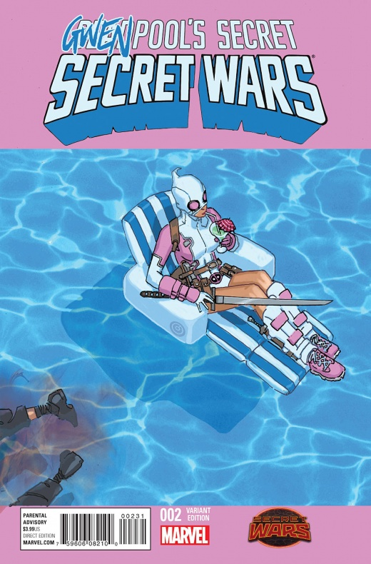 Deadpool Secret Wars 2 Variant Cover