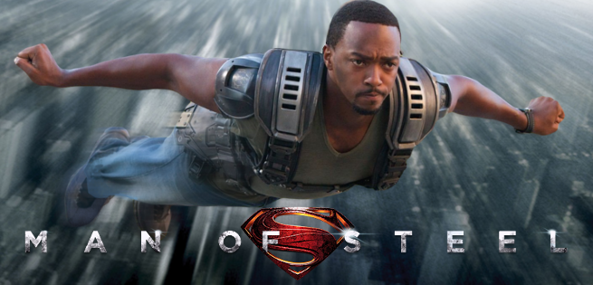 Anthony Mackie Man of steel
