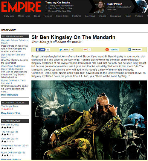 Ben Kingsley Mandarin