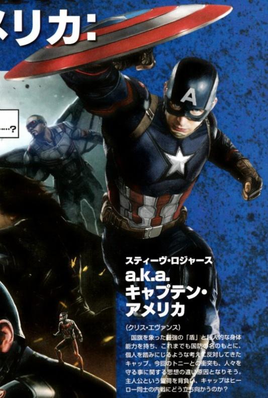 Captain America: Civil War japonés Capitán América