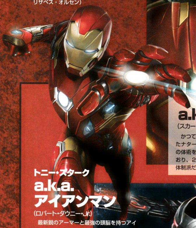 Captain America: Civil War japonés Iron Man
